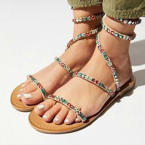 Free People embellished Havana sandal - size 37